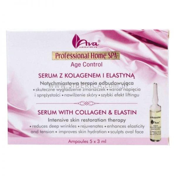 Verjongend serum met Collageen en Elastine in ampullen 9x3ml