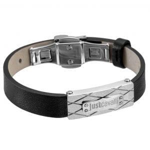 Just Cavalli Armband Heren van Leer, roestvrij staal JCBR50040200