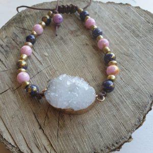 Kleurige Jade met kristal