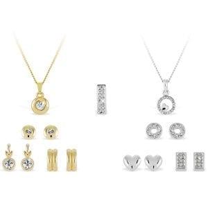 Pierre Cardin sieraden set twee ketting en zes oorbellen sets