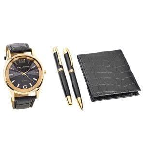 Pierre Cardin Mannen Set Horloge & Portemonnee & Pen PCX7870EMI