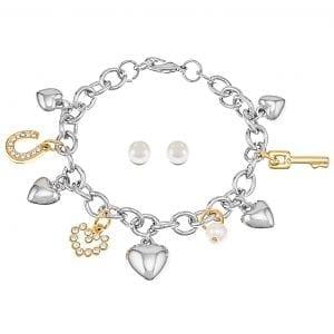 Pierre Cardin sieradenset armband en een paar oorbellen
