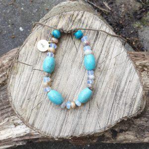 Turquoise edelsteen armband