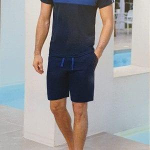 Enrico Coveri sport set van katoen, huispak, t-shirt, korte broek