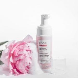 Biologische gezicht reiniger schuim cleanser gevoelige huid 150ml