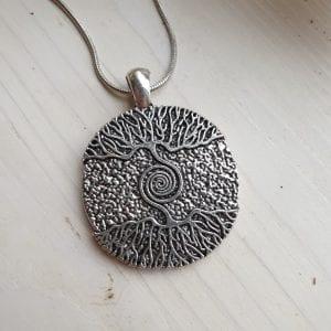 Metalen tree of life ketting