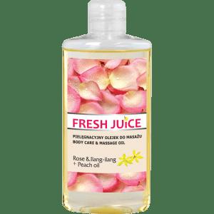 Verzorgende Massage Olie, roos, ylang-ylang en perzik olie, 150ml