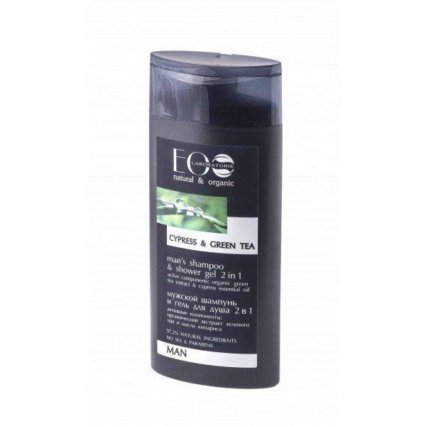 Haarshampoo en douchegel voor mannen, 2in1, Eolab, 250 ml