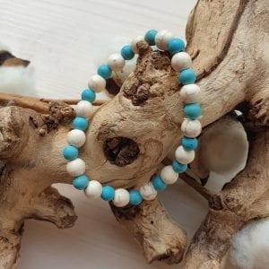 Mannen zebra armband van Turquoise en Howliet