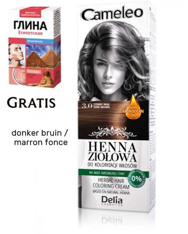 GRATIS RODE KLEI Natuurlijke henna kleur voor het haar, RUBY, haarverf op de meest puur manier, 75ml